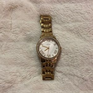 Gold Guess Watch with Swarovski crystals
